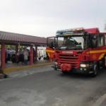 Jentera bomba yang terlibat