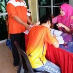 Wakil SSPN turut hadir untuk kemudahan peljar membuka akaun SSPN