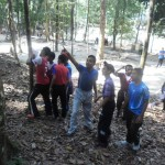 Pelajar sedang menjalankan aktiviti