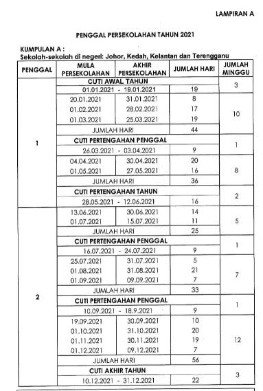 cuti-sekolah-tahun-2021