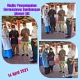 Penyampaian Dermasiswa Pelajar Alumni SIS kepada pelajar. Oleh Tuan Pengetua SMKSIS bersama Tn. Hj Rosley Omar Al Ahmady Bendahari ASIS Baru 14 April 2021